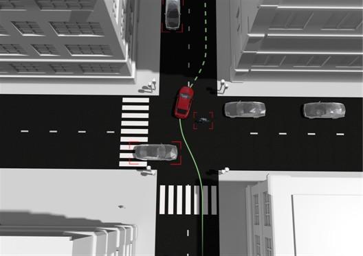 Volvo'nun akıllı sistemi etrafı 360 derece algılayarak manevra yapabiliyor.
