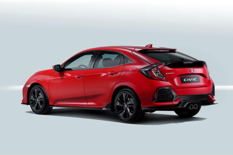 Yeni Honda Civic Hatchback kırmızı paris