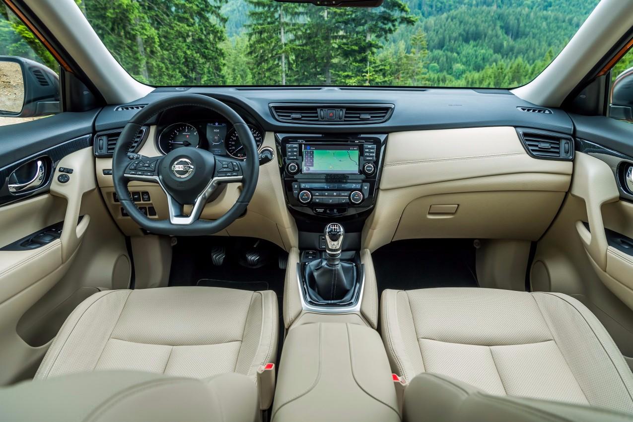 Nissan X-Trail ön kabin konsol