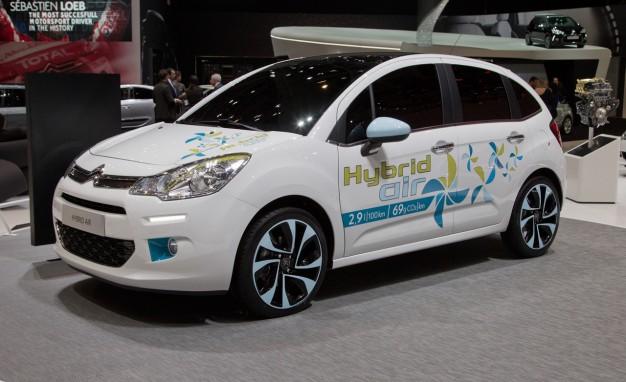 Peugeot hybrid air citroen c3 hava hibrid