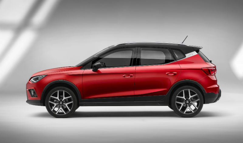 Seat Arona yan profil 2018 kırmızı