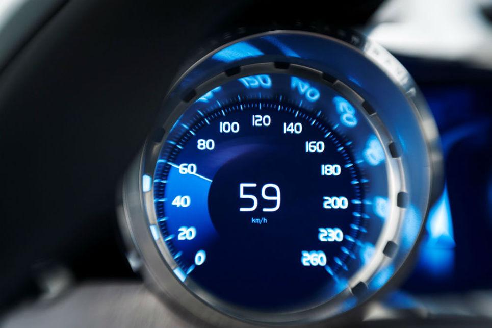 Volvo konsept coupe, hız göstergesi, kabin