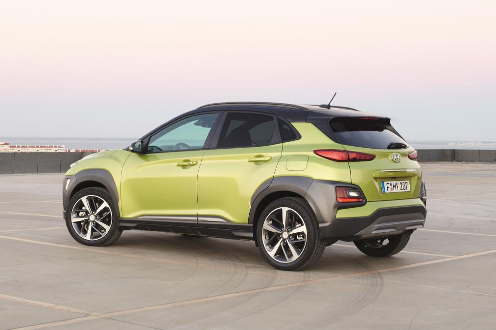 Hyundai Kona, yeşil, arka çapraz 2018