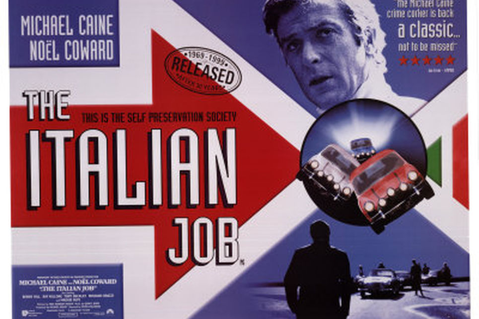 italian job michael caine ve mini cooper