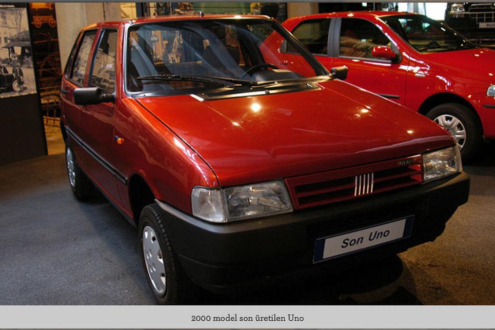 Fiat Uno, üretilen son Uno, Fiat Uno, Bursa, tofaş müzesi