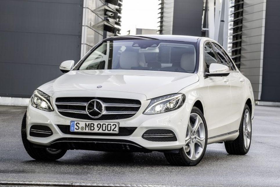 Mercedes, c serisi, beyaz, yeni nesil, dördüncü nesil