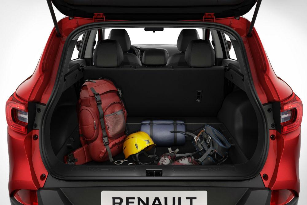 Renault Kadjar, 472 dm3 ile sınıfının en geniş bagaj hacimlerinden birine sahip.