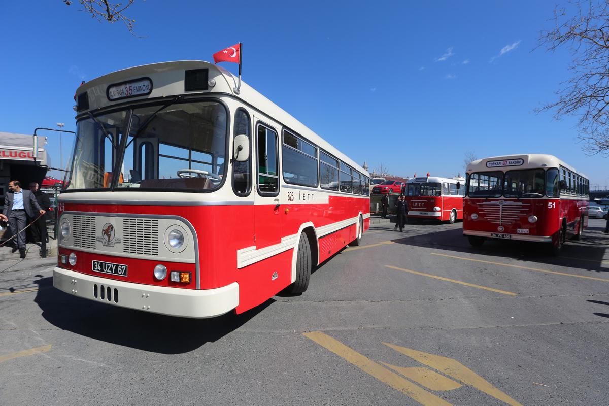 Nostaljik otobüslerin güzergahları değişken