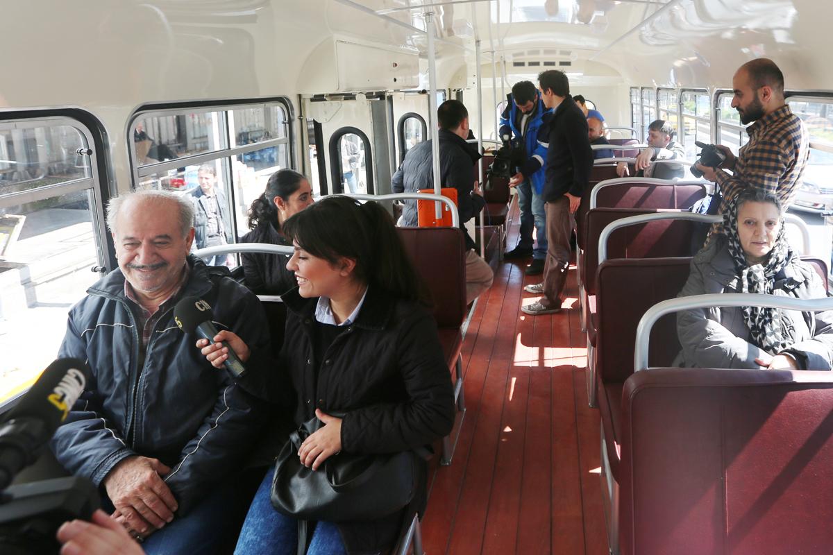 Nostalji: 26 oturan, 25 ayakta yolcu